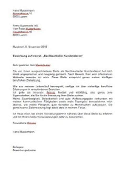 Brief Formatierung Schweiz Bewerbungsschreiben Vorlage Muster Und Vorlagen Kostenlos