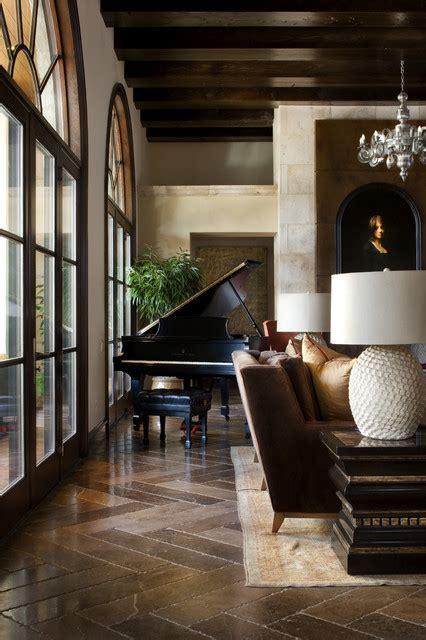 spanish oaks hacienda rustic living room austin