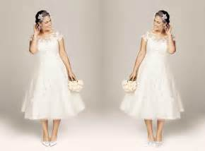 classic tea length beach wedding dress with sleeves 2015