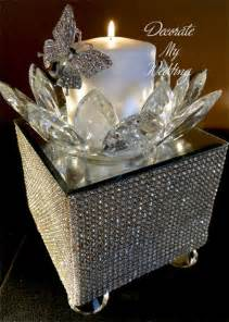 How To Decorate A Chandelier With Crystals Decorate My Wedding Crystal Wedding Cake Stands