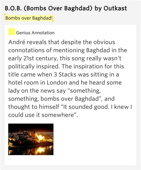 Lyrics To Sitting Up In Room by Bombs Baghdad B O B Lyrics Meaning