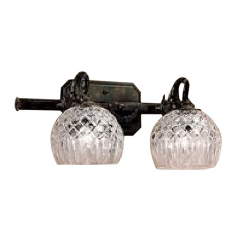 crystal vanity lights bathroom shop classic lighting 2 light waterbury oxidized bronze