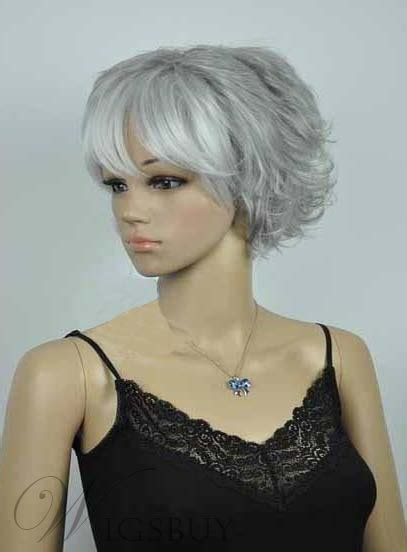 salt and pepper wigs for mature women salt and pepper short curly capless synthetic wigs for