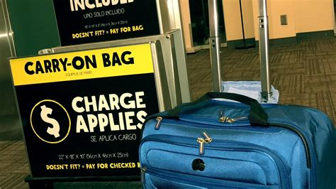 what is the allowed carry on bag and check in baggage rate spirit airlines bag size youtube