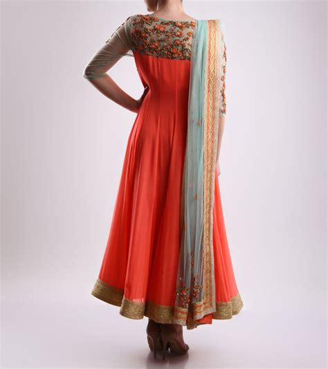 Anarkali Dress By Mohini 2 silk and georgette embroidered anarkali dresses by mohini