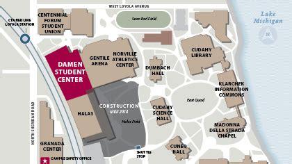 loyola chicago map damen student center loyola chicago
