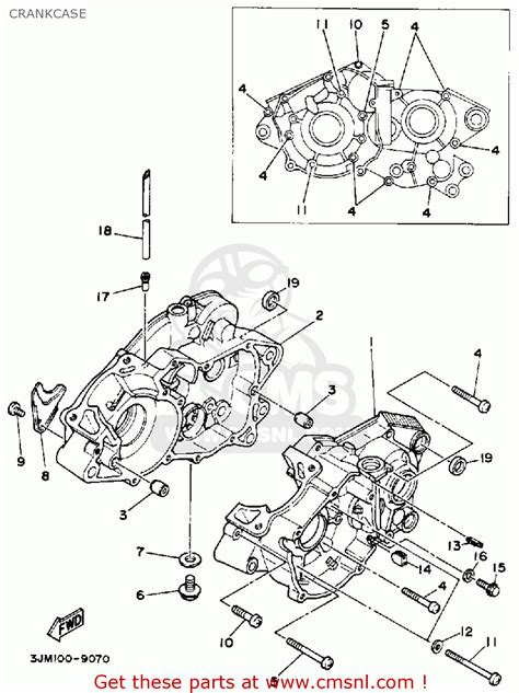 yamaha blaster parts diagram yamaha ysp200w blaster 1989 crankcase buy original