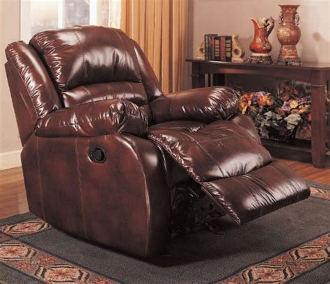 Leather Recliner Deals Best Deals Rocker Recliner In Brown Bycast Leather By