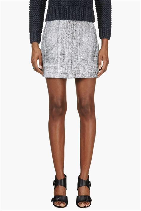 3 1 phillip lim black leather a line lambskin skirt