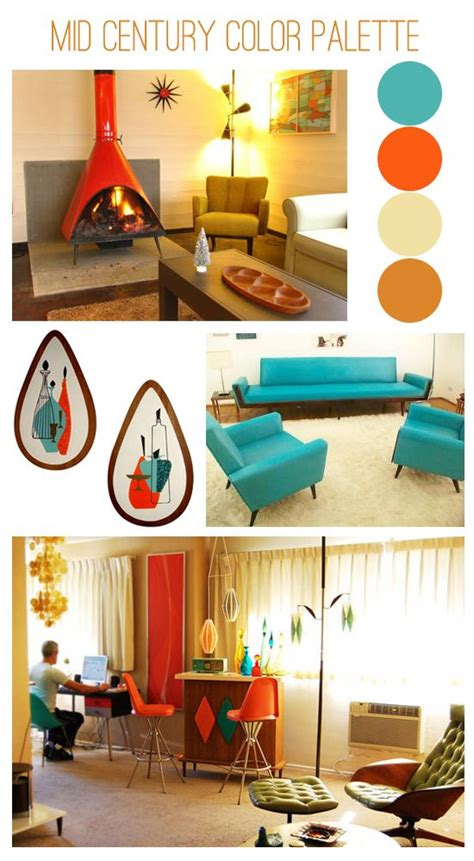 mid century color schemes 1000 images about color palette mid century on pinterest