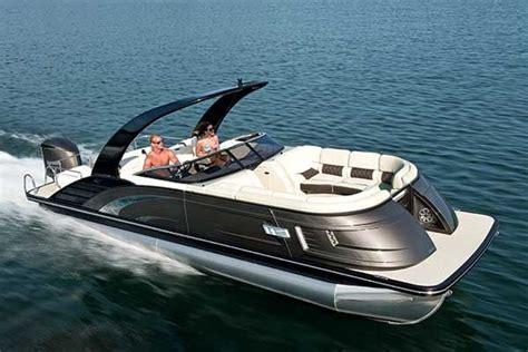 tritoon boat with cabin pontoon boats boatus magazine