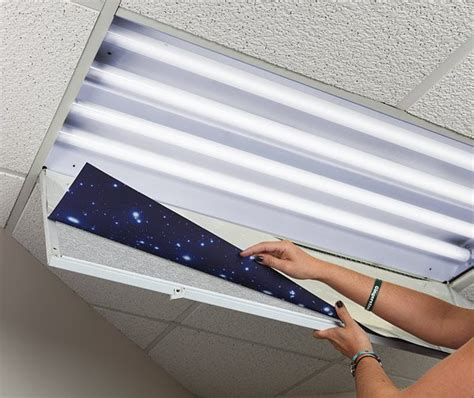 light covers for fluorescent ceiling lights outer space decorative fluorescent light diffusers