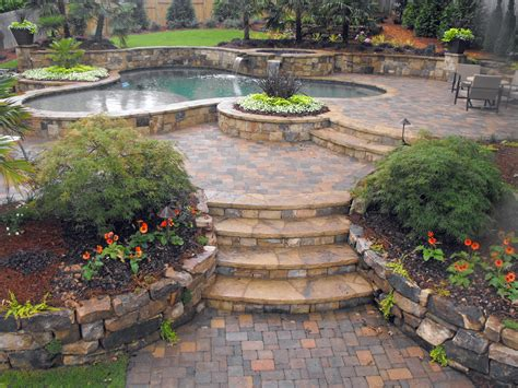 backyard design ideas 3648 215 2736 hardscape sets the stage
