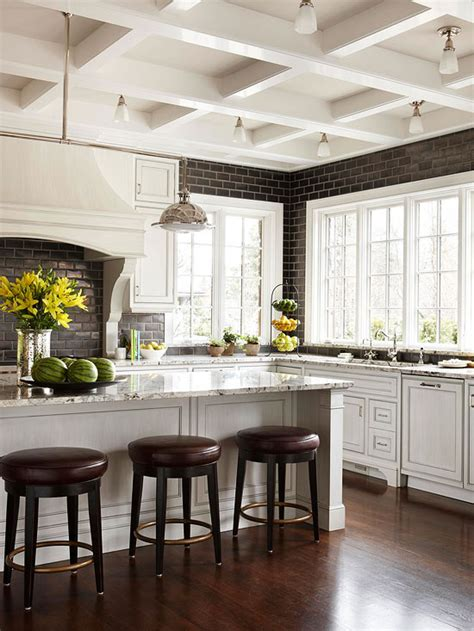bhg homes a kitchen with old world charm meets modern amenities