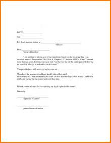 Letter Advising Increase In Rent 7 Rental Letter Template Park Attendant