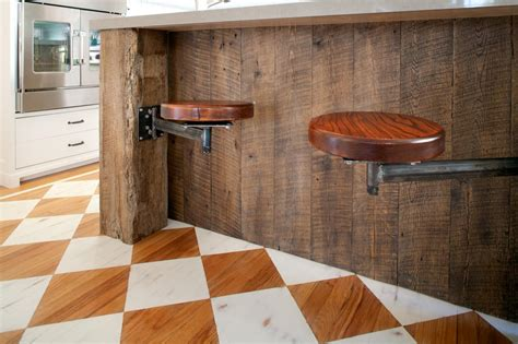 counter height kitchen island in reclaimed wood 27 photo page hgtv
