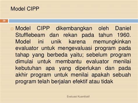 Model Dan Lu Downlight model evaluasi kualitatif dan kuantitatif