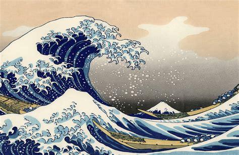 papier peint fresque la grande vague de kanagawa par
