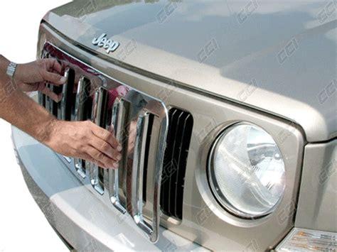 jeep patriot chrome jeep patriot chrome grille insert overlay trim