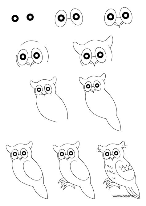 how to draw doodle owl drawing true owl