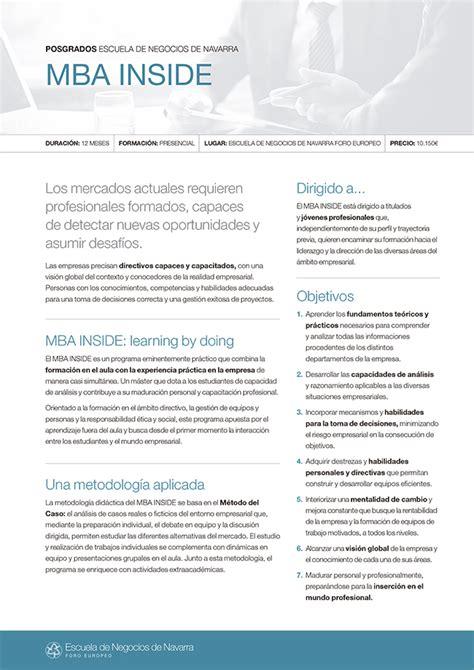 Mba Universidad De Navarra by Mba Inside Escuela De Negocios De Navarra Universidad