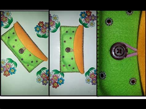 Dompet Pouch 3 Retsleting diy phone bag wallet from fabric cara membuat dompet dari flanel