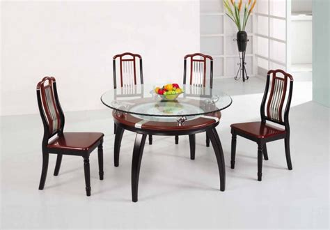 glass round dining room table glass top dining tables homesfeed