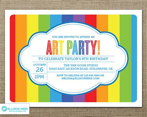 free printable art birthday invitations art party invitation art printable art birthday paint