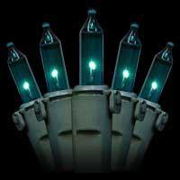 turqouise led cgristmas lights premium teal turquoise mini lights