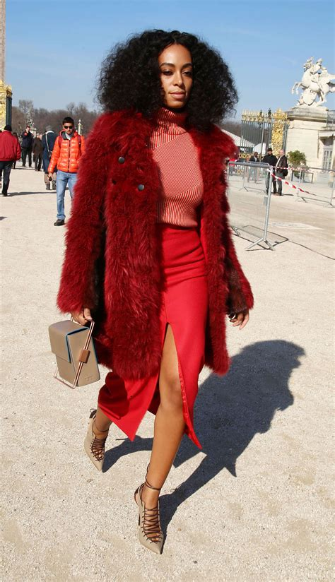 Solange Knowles Wardrobe by Solange Knowles Carven Fashion Show 2015 03 Gotceleb