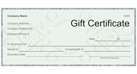design a gift certificate template free best photos of gift certificate template design black