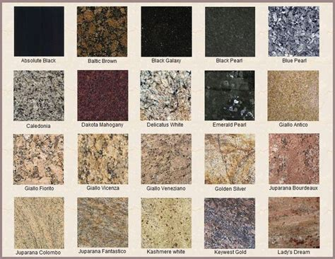 colors of granite countertops 25 best ideas about types of granite on types