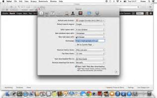 how to set as your homepage on a mac