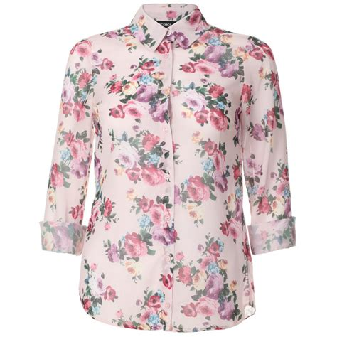 Office Hours Blossom Blouse Pink womens pink floral blouse