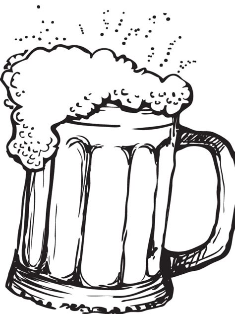 beer cartoon black and white beer drawing clipart best