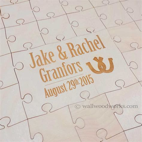 woodworks company southern wedding guest book puzzle shoe wall