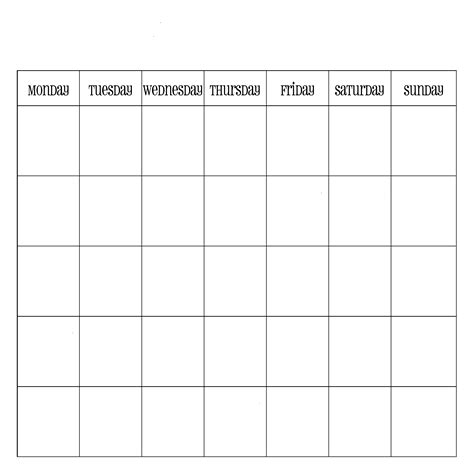 generic monthly calendar new calendar template site