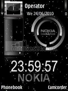 themes digital clock download digital clock free nokia n73 theme download download