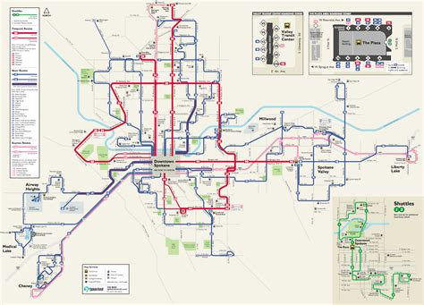 spokane map spokane s frequent transit map