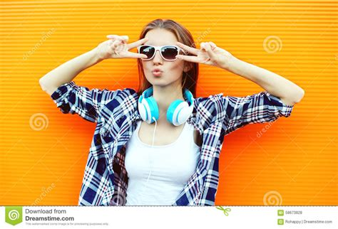 pretty cool pretty cool in sunglasses and headphones