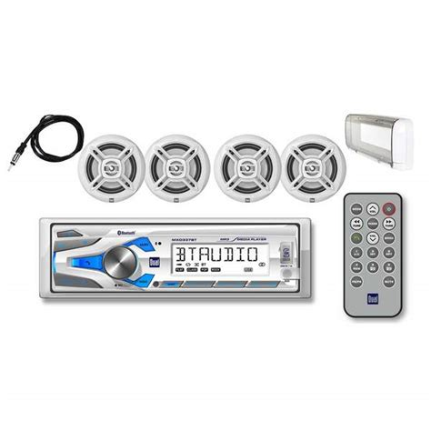 boat stereo west marine dual mxcp474bts marine digital media receiver package with
