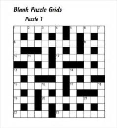 blank puzzle template sle blank crossword template 9 documents in
