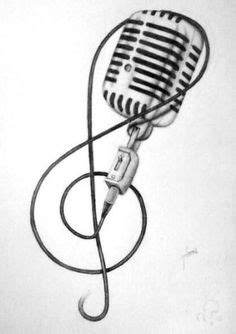 tribal microphone tattoo vintage school retro can microphone by
