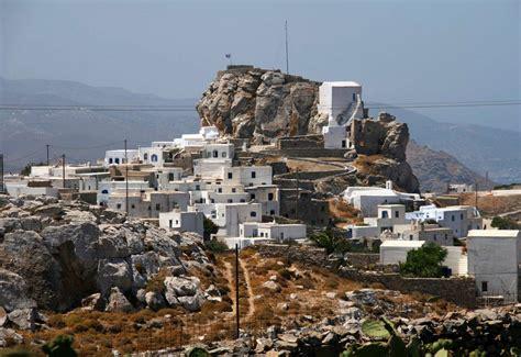 Narrow Lot Houses Chora Amorgos Village Walk Windmills
