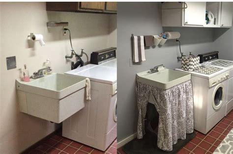 Basement Utility Sink Skirt D 25 Best Sink Skirt Ideas On