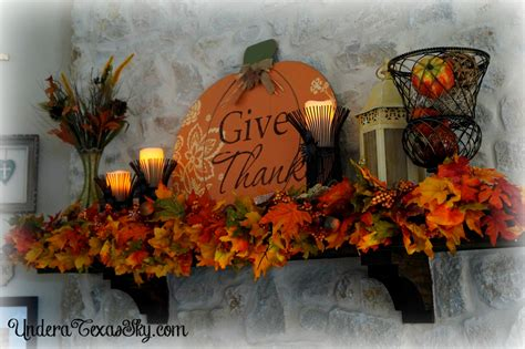 how to fall in fall mantel decor 2016 under a texas sky