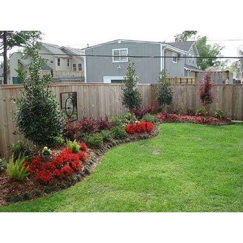 backyard fence landscaping ideas backyard along the fence outdoor ideas pinterest
