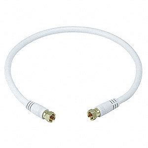 1 ft coaxial cable monoprice 1 ft 6 quot rg 6 coaxial cable white for use with