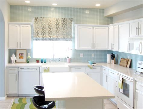 Blue Tile Backsplash Kitchen Make The Kitchen Backsplash More Beautiful Inspirationseek