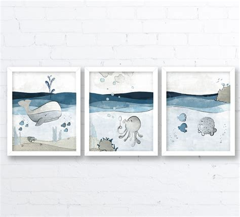 Whale Nursery Decor Nursery Decor Whale Nursery Grey Blue Room